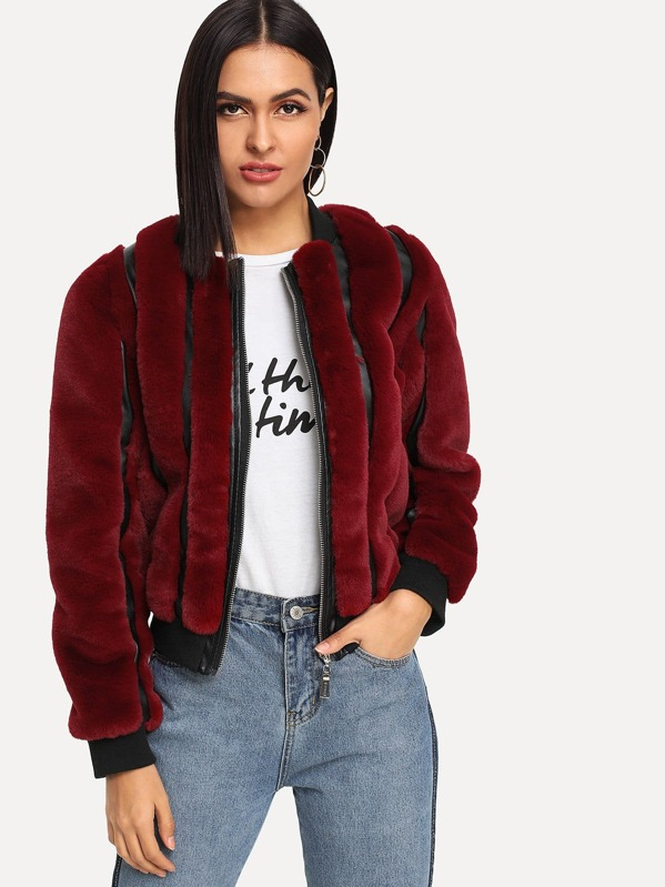 d3a577710e Cheap Zipper Up Faux Fur Jacket for sale Australia | SHEIN