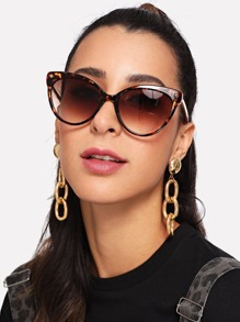 Cat Eye Leopard Frame Sunglasses