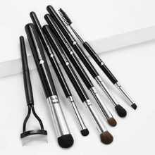 Eyeshadow Brush & Eyelash Brush Set 7pcs