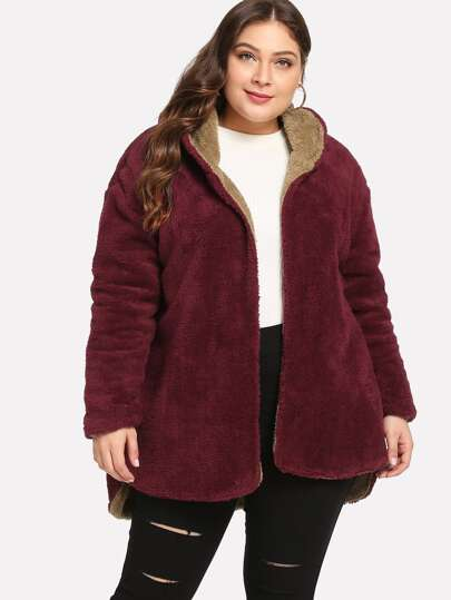 Plus On Both Sides Wear Teddy Coat