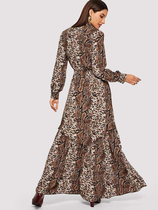 Vielfarbig Leopardenmuster Vielfarbig Leopardenmuster Elegant Kleider F1cTJlK