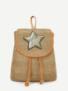 Girls Star Patch Backpack
