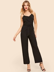 Self Tie Waist Cami Jumpsuit