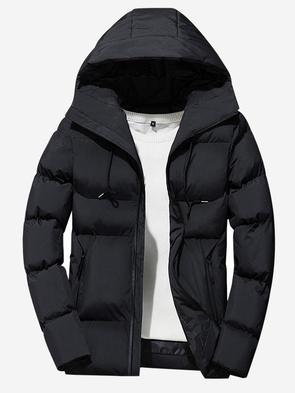 3b2ab75df1 Men Drawstring Hooded Puffer Coat