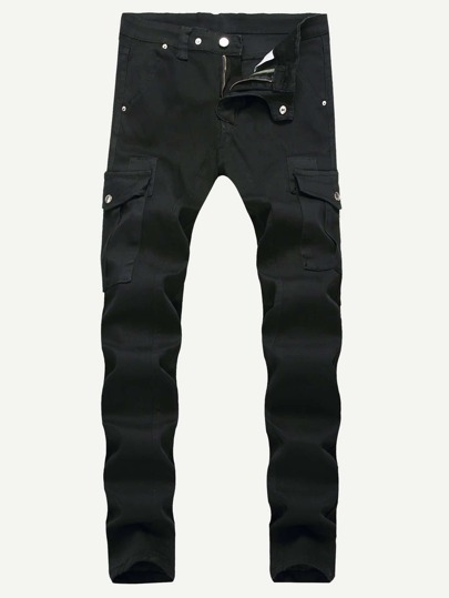 Guys Pocket Side Solid Jeans