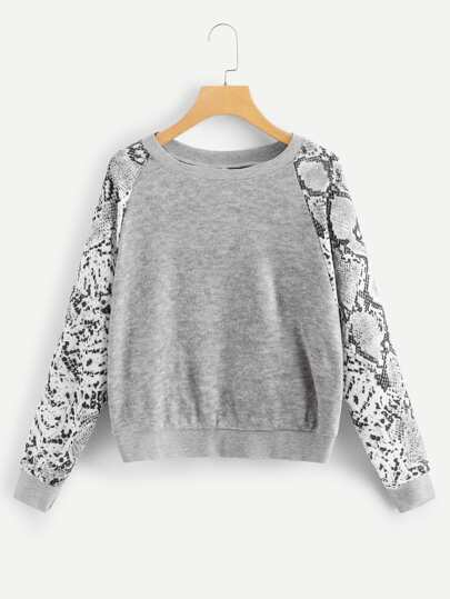 Animal Print Sweatshirt pictures
