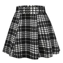 Plaid Print Skirt Wife Shops