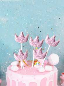 Crown Shaped Birthday Cake Topper Decoration 5pcs