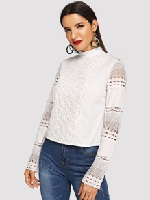 Hollow Out Sleeve Blouse