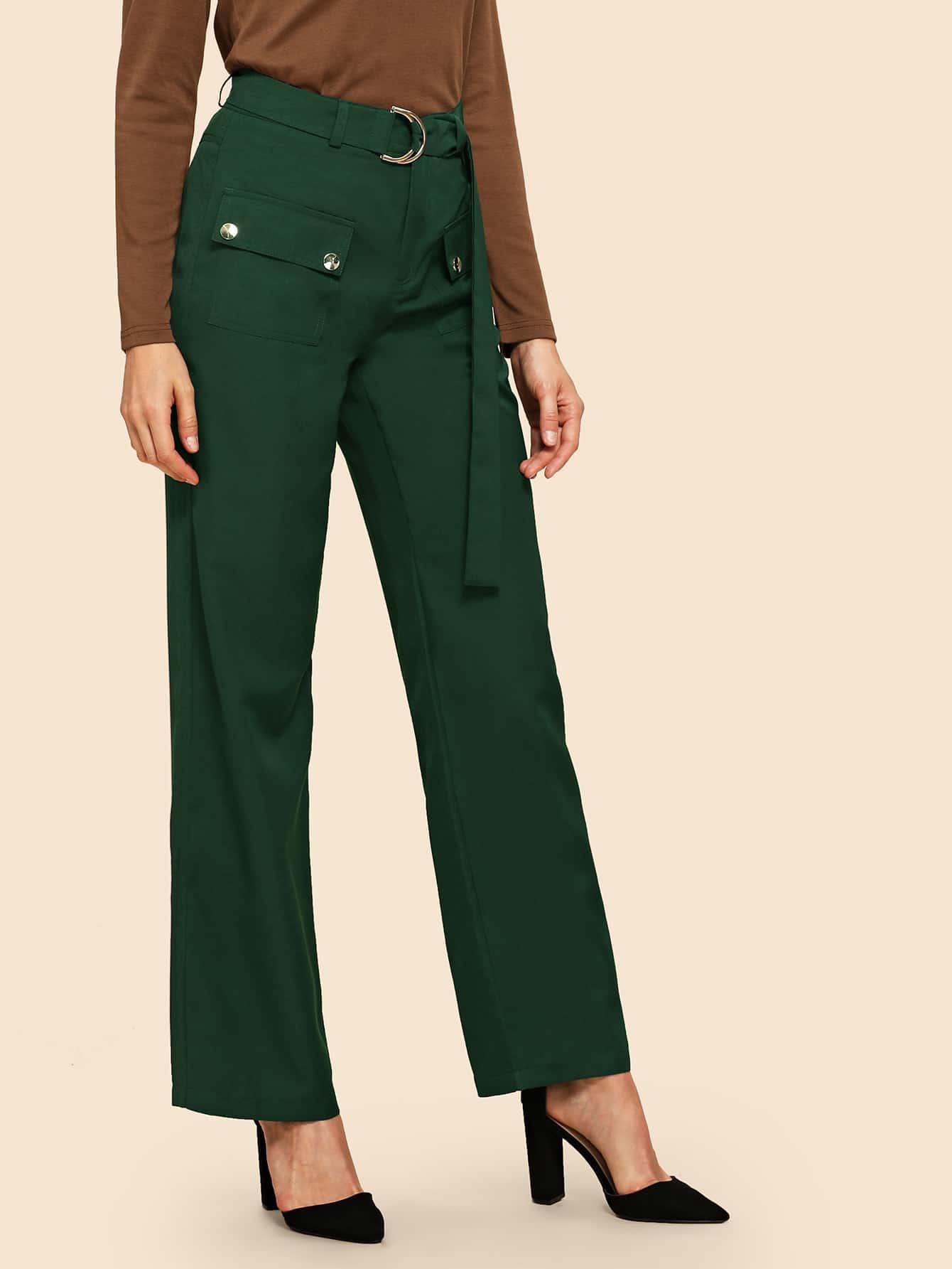 70s Однотонные брюки с карманами thumbnail