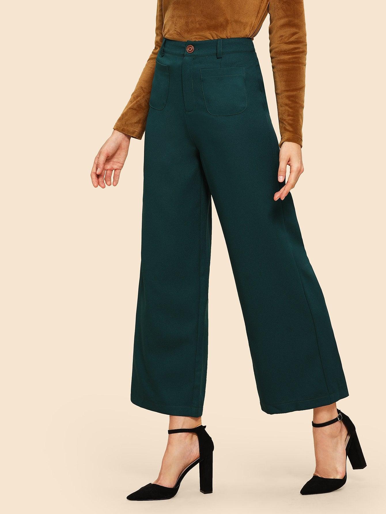80s Однотонные брюки с карманами thumbnail