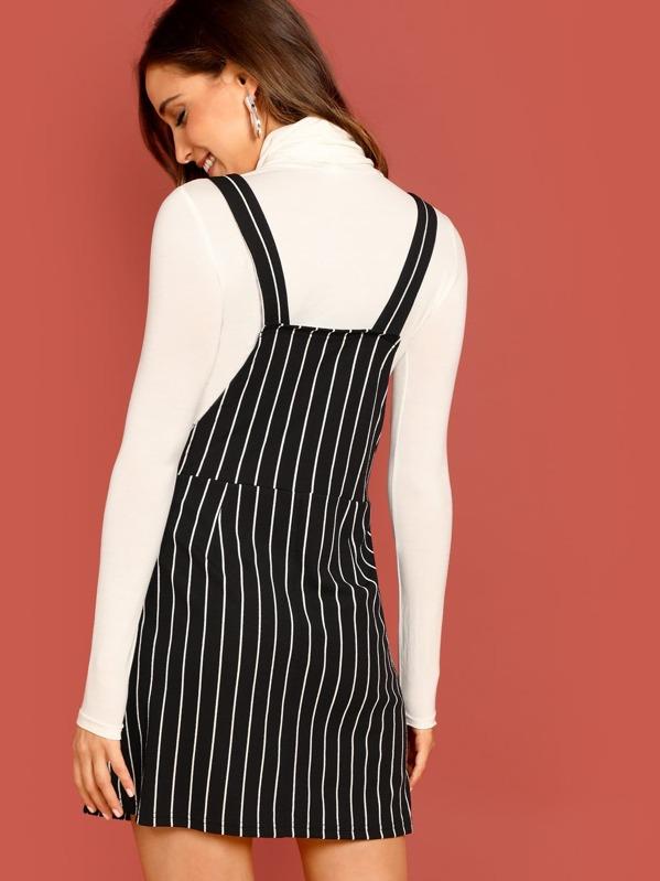 012e7f07c9 Bib Pocket Pinstripe Overall Dress