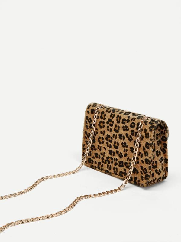 muy baratas tecnicas modernas gran descuento de 2019 Bolso bandolera de cadena con estampado de leopardo