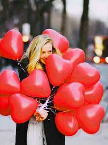 Heart Shaped Balloon 100pcs