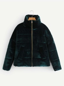 Velvet Padded Coat