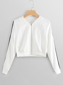 Tape Panel Zip Up Jacket