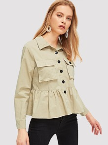 96fbd98ee9 Khaki Jackets EmmaCloth-Women Fast Fashion Online