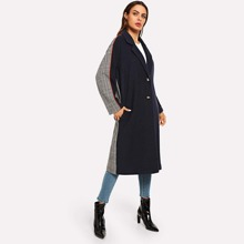 Notch Collar Cut And Sew Coat