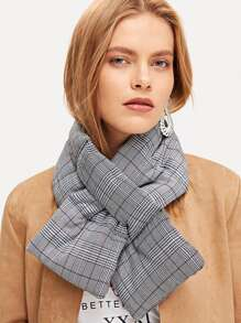 Plaid Tippet Scarf