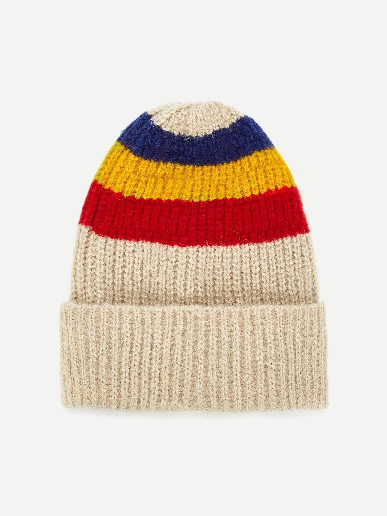 ce55c78d Kids Striped Knit Beanie Hat