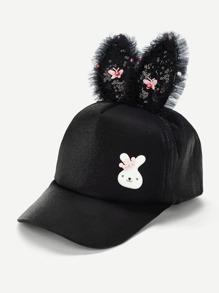 160370d6e8e Girls Contrast Sequin Ear Decorated Baseball Cap