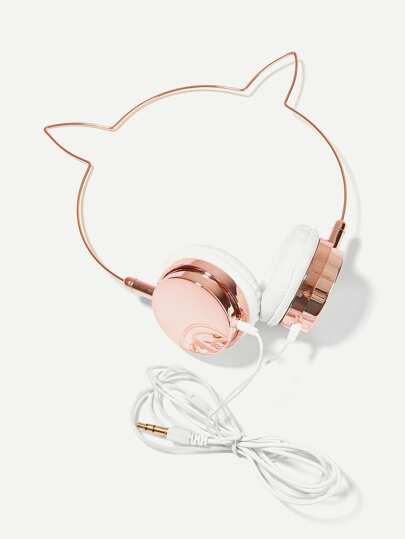 Cat Ear Shaped On-Ear Headphone