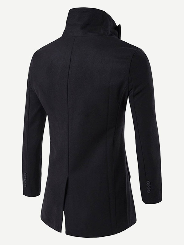 6e1948486b Men Single Breasted Slit Hem Coat | SHEIN UK