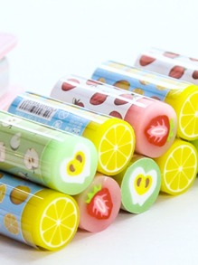 Random Fruit Eraser 2pcs