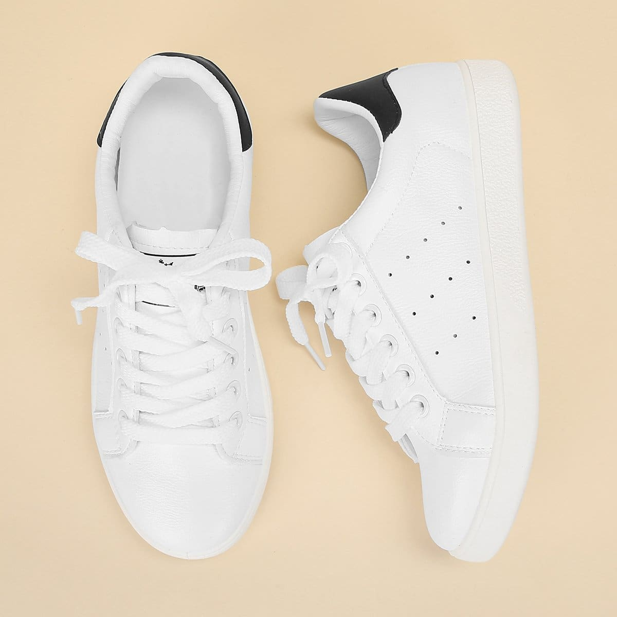 SHEIN coupon: Lace Up Plain Sneakers