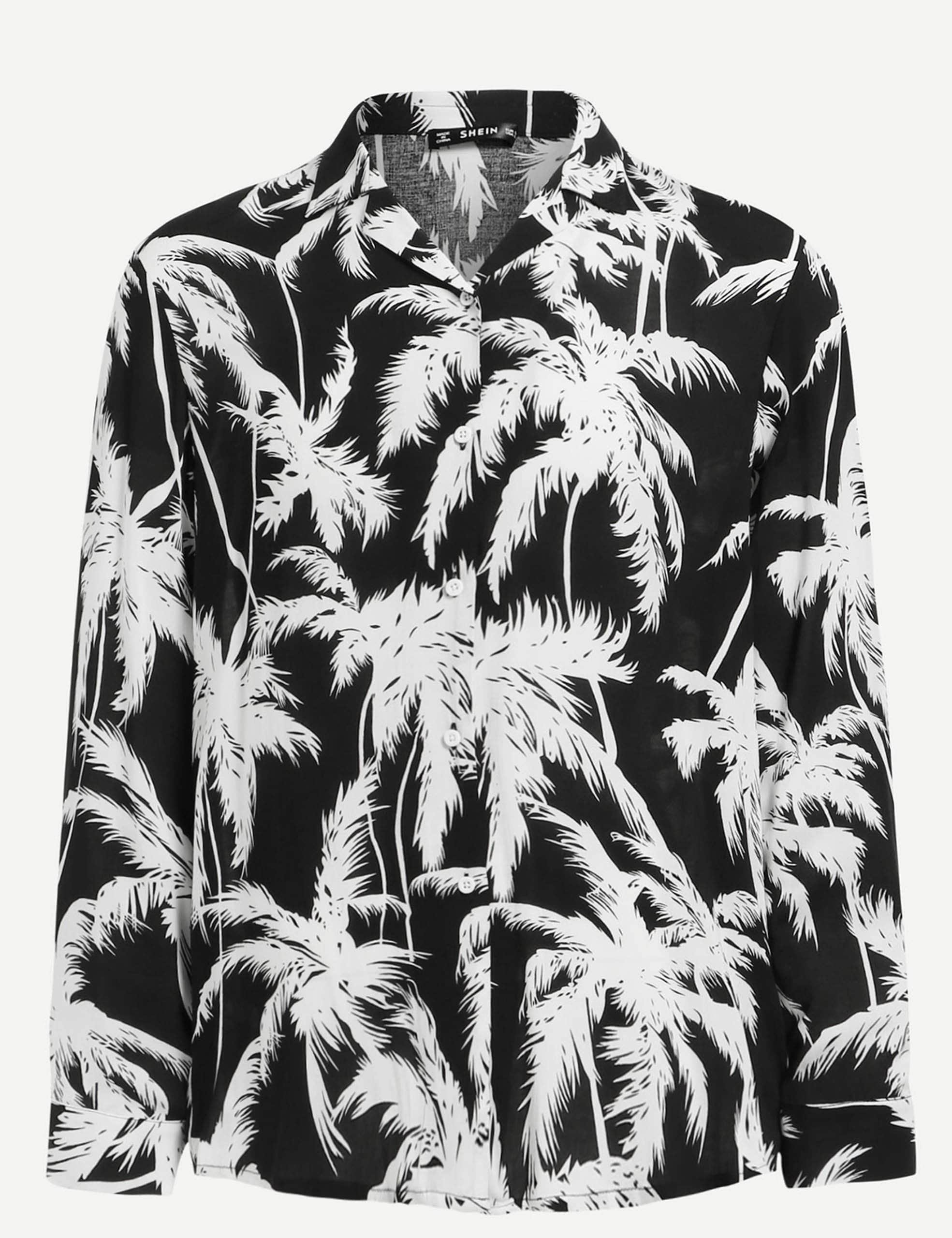 Men Allover Tree Print Shirt Men Allover Tree Print Shirt