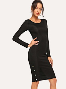 Form Fitting Ribbed Dress
