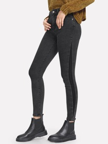 Pocket Patched Crop Skinny Jeggings