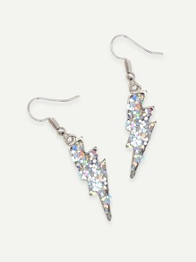 Sequin Cover Flash Drop Earrings 1pair