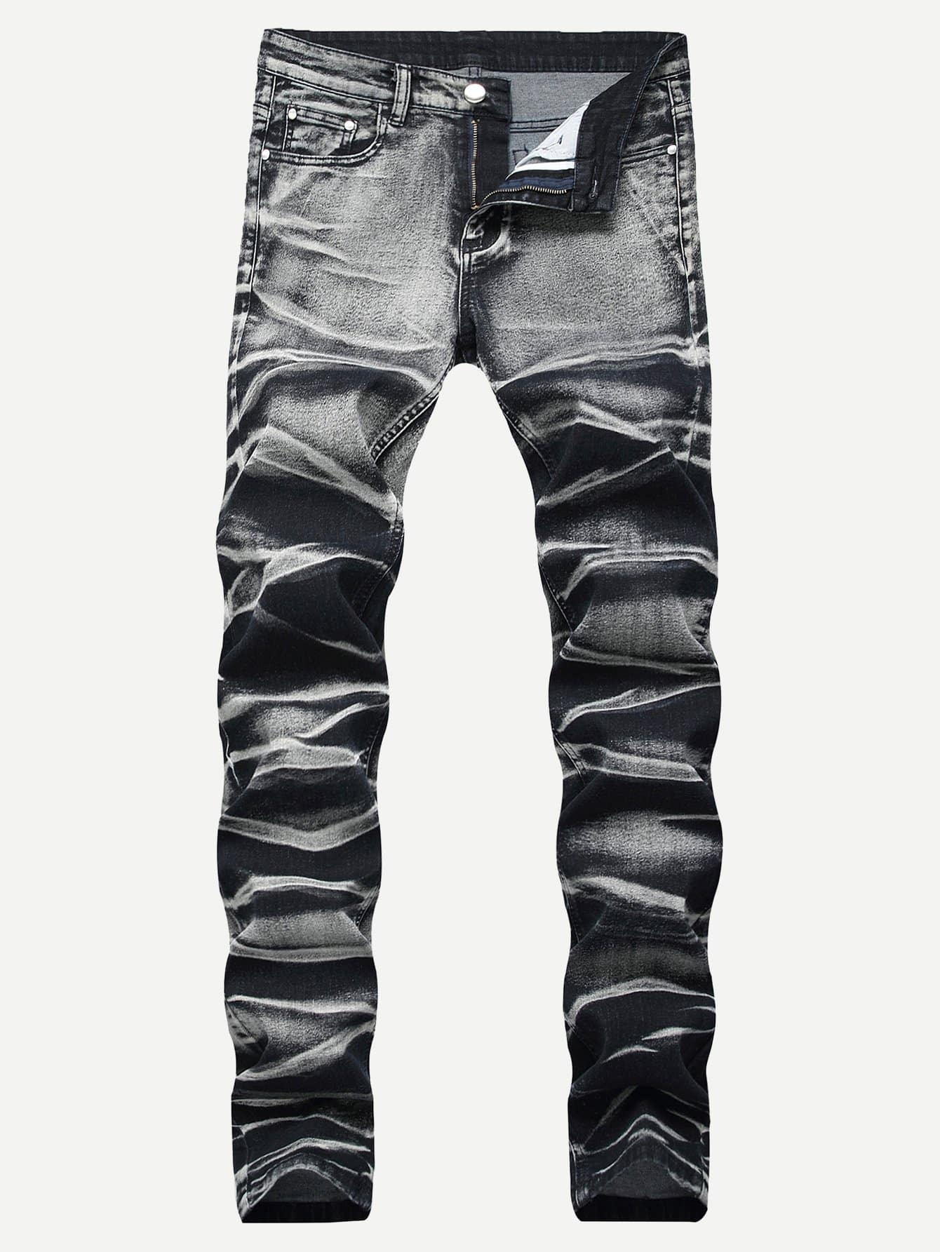 Men Ruched Jeans Men Ruched Jeans