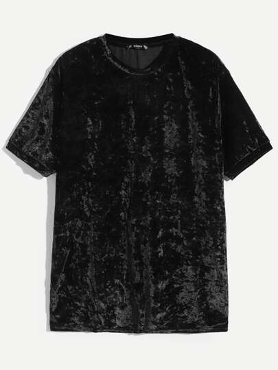 Guys Crushed velvet Tee