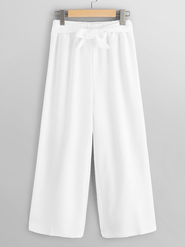 Belted Wide Leg Pants by Sheinside