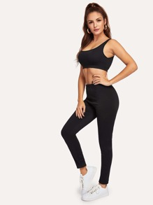 Crop Tank Top and Pants Set
