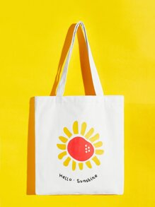 Sun Print Canvas Tote Bag