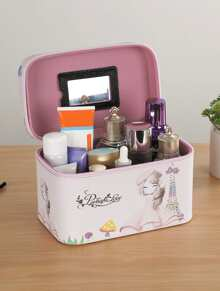 Tower Print Cosmetic Storage Bag