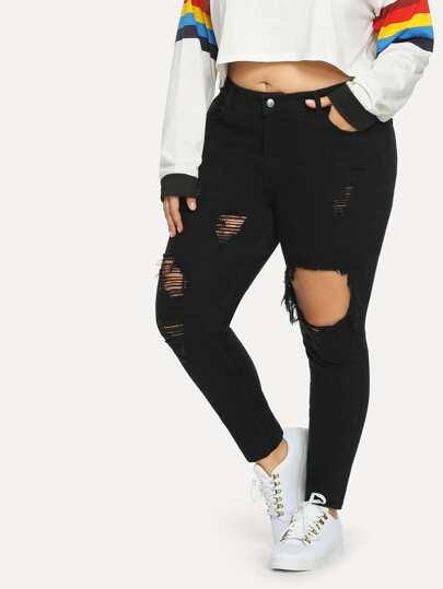94cfbcda4654 Plus Size Jeans | Plus Size Jeans Online | SHEIN