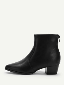 Solid Point Toe Ankle Boots