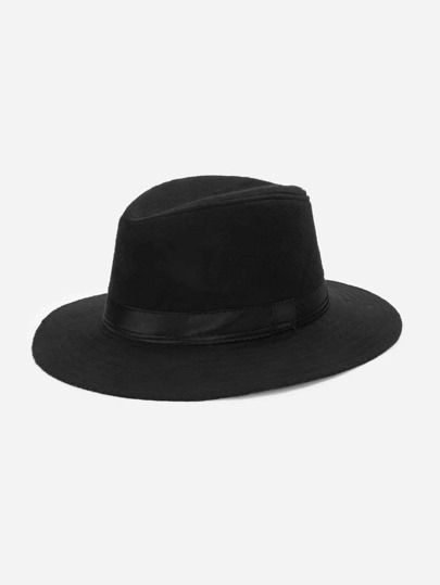 Guys Plain Trilby Hat