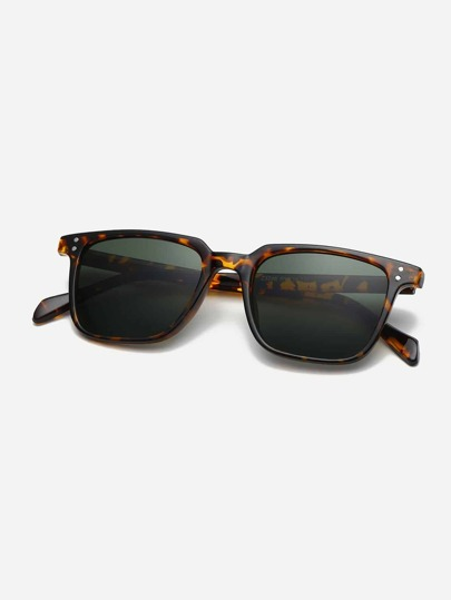 Guys Leopard Pattern Frame Sunglasses
