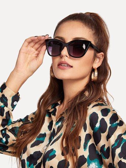 0782561537 Gafas de sol con diseño de ojos de gato de lentes tintadas