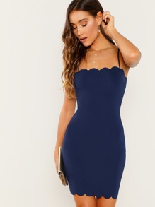 Scallop Edge Cami Bodycon Dress