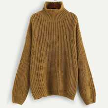 SHEIN | Plus Drop Shoulder Solid Sweater | Goxip