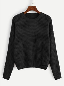 Plus Drop Shoulder Solid Jumper
