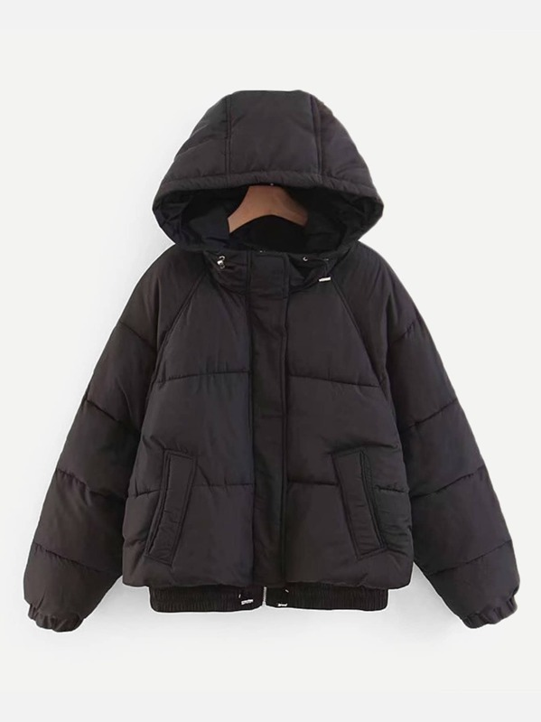 3be7cf469f Drawstring Hooded Puffer Jacket
