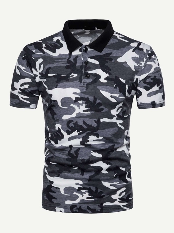 87262280b0 Men Camo Polo Shirt | SHEIN UK