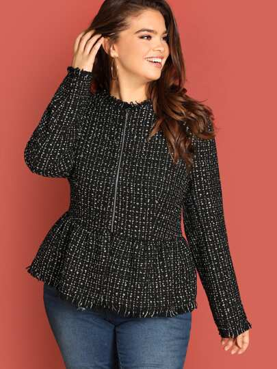 89686ffda2 Plus Size Coats, Shop Plus Size Coats Online | SHEIN UK